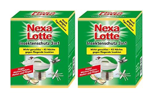 Nexa Lotte Insekten-Stecker 3in1 - Gegen Mücken, Fliegen und Motten (2er Pack)