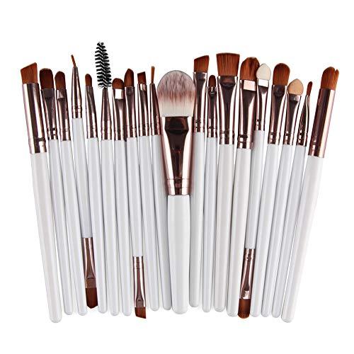 LaoZanA Pinceaux Maquillage Cosmétique 20Pcs Ensemble - BKBlanc