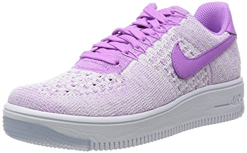 Nike Basketball Air Force 1 Flyknit Low Fuchsia Glow Fuchsia Glow White, Groesse:37.5_us06.5_uk04.0_cm23.5w