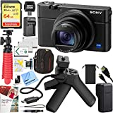 Sony RX100 VI Cyber-Shot Digital Camera 20.1 MP with 24-200mm Zoom Bundle with Shooting Grip and Tripod, 64GB Memory Card, Paintshop Pro, Case, Battery, Cleaning Pen Tripod and Accessories (9 Items)