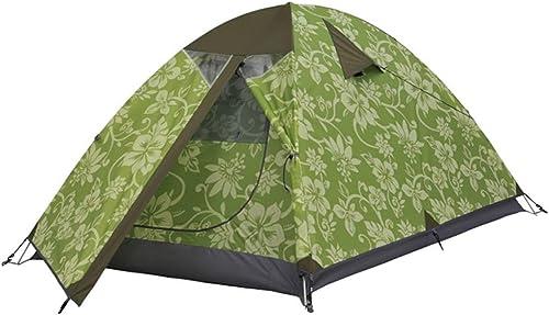 CATRP Marque Tente De Camping Couche Double Imperméable 2-3 Personnes De Plein Air Alpinisme Tente Légère,Vert