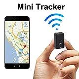 Porfeet Localizador De GPS, Mini Perseguidor Magnético Antirrobo del Localizador De GPS gsm GPRS Dispositivo De Seguimiento En Tiempo Real Negro Paquete de Bolsa