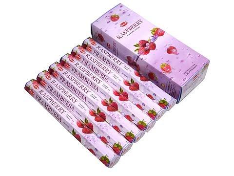 Raspberry - Box of Six 20 Stick Tubes, 120 Sticks Total - HEM Incense
