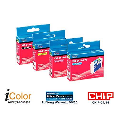 iColor Alternative Patrone: ColorPack für EPSON (ersetzt T1636 / 16XL), BK/C/M/Y (Druckerpatronen Epson)