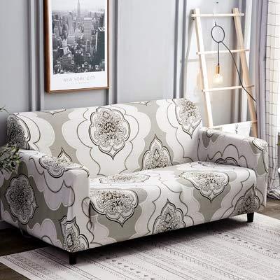 Conjuntos de sofás de Cuero con Todo Incluido, Funda Universal, Toalla, Tela de Verano, cojín para sofá, Funda para sofá, Funda dúo, Funda Completa A19, 2 plazas