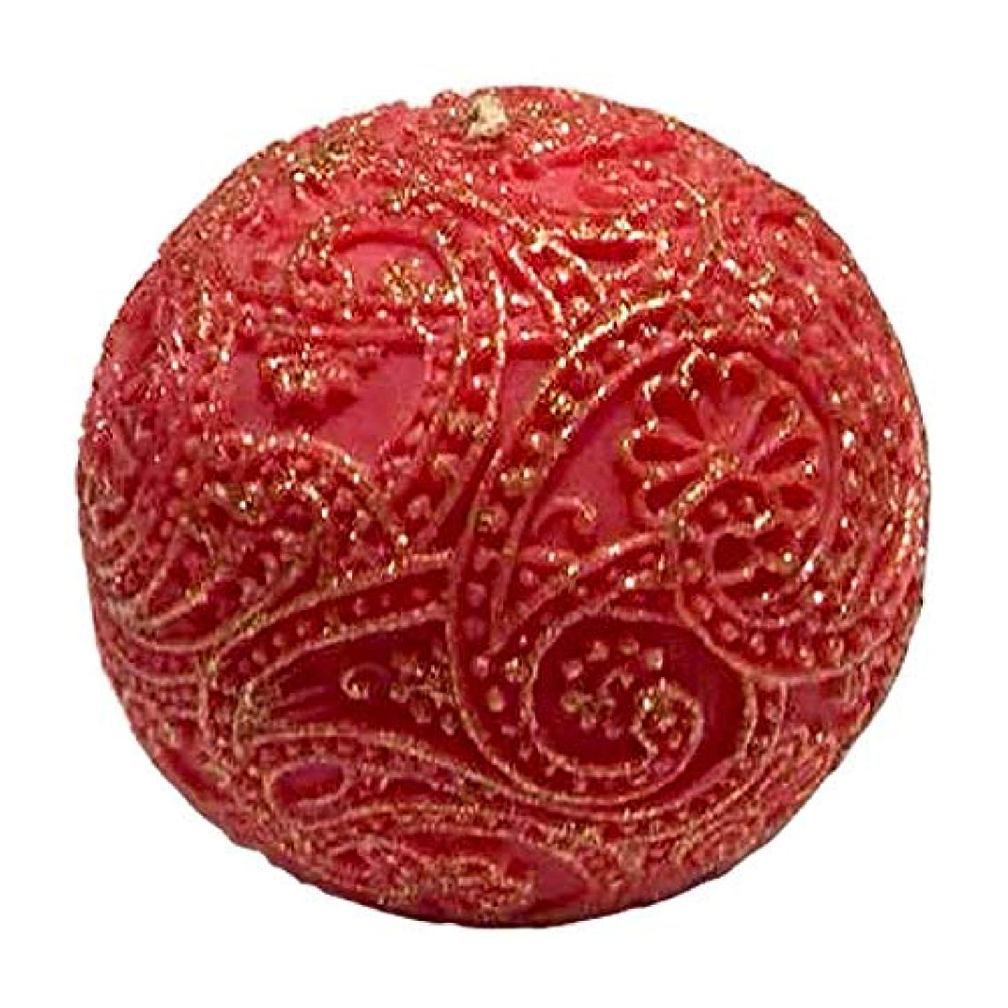 意気揚々人滝ペイズリー Globular Gliter (Red×Gold)