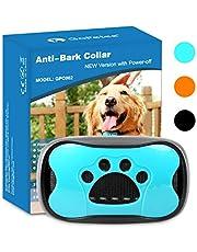 GoPetee Collar Antiladridos Recargable para Perros Pequeños Medianos y Grandes Collar Adiestramiento Recargable para Perros Sonidos y Vibraciones Audibles Chip Avanzado (3 Colores)