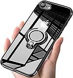 iPhone SE Hülle/ iPhone7 Hülle/ iPhone8 Hülle Soft Silikon Hülle Ultra Dünn TPU Bumper Hülle 360 Grad Ring Stand Magnetische Autohalterung Schutzhülle für Transparent Anti-Fingerabdruck Anti-Kratzer