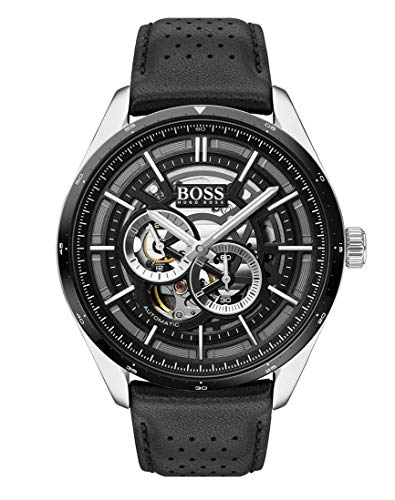 Hugo Boss Reloj Multiesfera para Hombre de Automático con Correa en Cuero 1513748