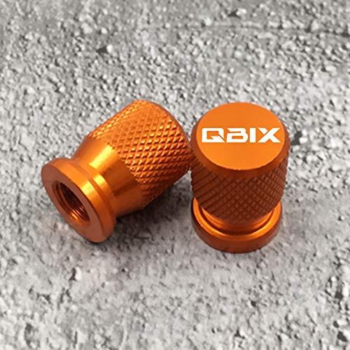 2 Piezas Tapas Válvulas para Neumáticos Motocicleta para Yamaha QBIX125 QBIX 125, Aluminio Prueba de Polvo Cubierta con Anillo de Sellado