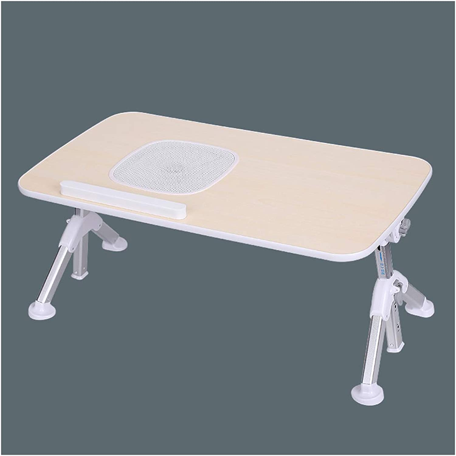 Folding Table Foldable Laptop Desk Adjustable Computer Desk Bed Table College Dormitory Folding Table Lazy Small Table (Size   52x30x25-33cm)