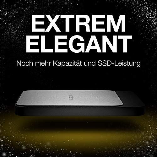 Seagate Fast SSD, tragbare externe SSD 1 TB, 2.5 Zoll, USB 3.0, PC & Mac, Modellnr.: STCM1000400