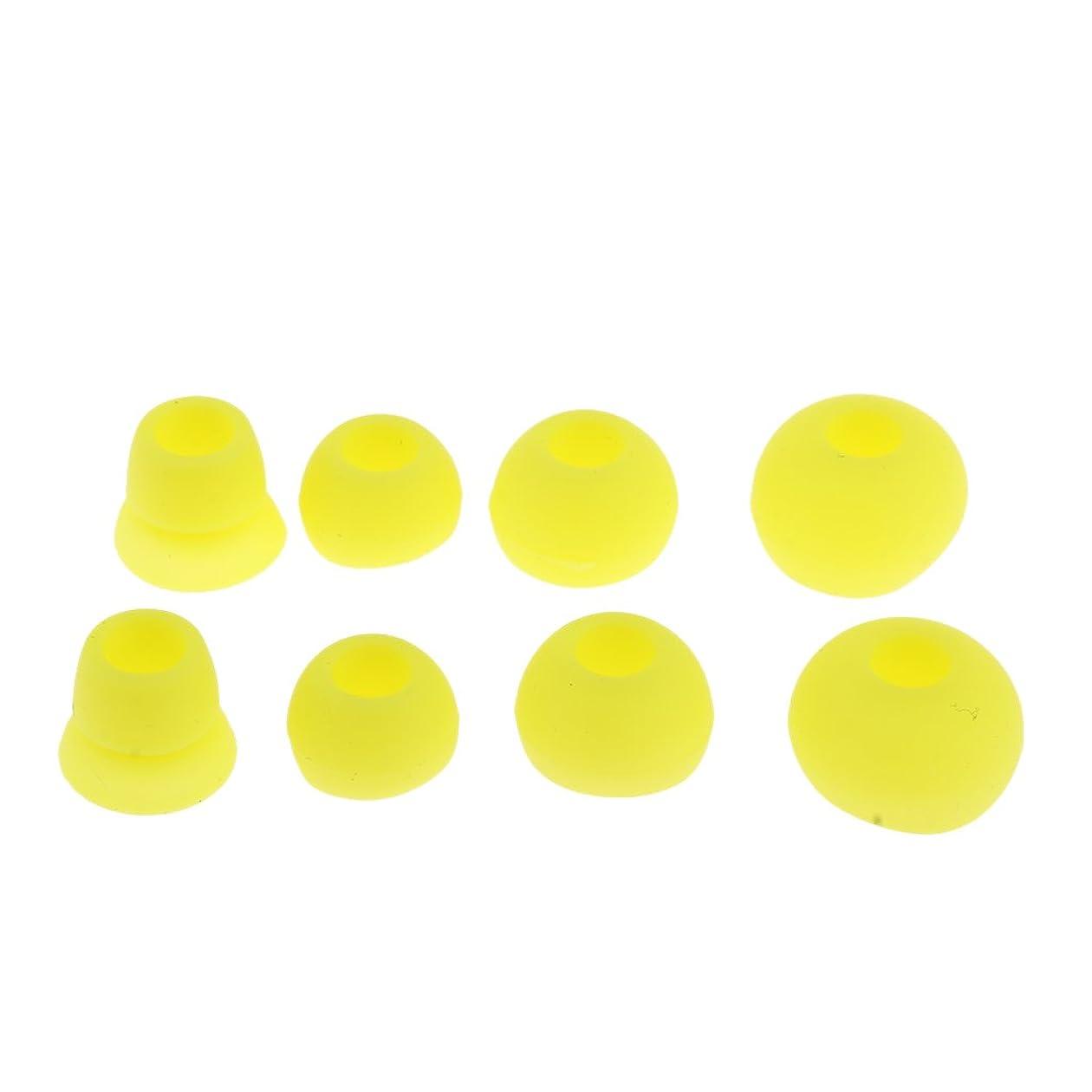 ほこりっぽい指導するジャンクションシリコン イヤホン イヤーカップ 安定性 帯電防止 PowerBeats 2.0 PBイヤホンに対応 全5色 - 黄