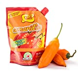 Sibarita Aji Amarillo Pepper Sauce - Peruvian Yellow Chili Paste Peppers - Non Spicy - 250 Grams - 8.82 Oz