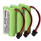 Miady 2.4V 2 AAA 900mAh Ni-MH Cordless Home Phone Battery for Uniden BT1008 BT-1008 BT1016 BT-1016 BT1021 BT-1021 WITH43-269 WX12077 Sanyo CAS-D6325 CASD6325 Lenmar CBBT1008 CB-BT1008 (Pack of 3)