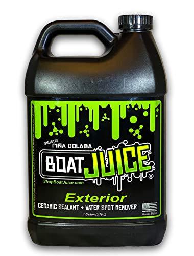 Boat Juice - Exterior Cleaner - Ceramic SiO2 Sealant - Water Spot Remover - Gloss Enhancer - Pina Colada Scent - 1 Gallon Jug