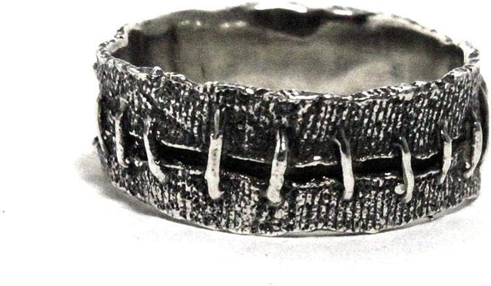 BAVAHA 316L Stainless Steel Ring Frankenstein Flesh Ring Wedding Band Rings Men Biker Jewelry