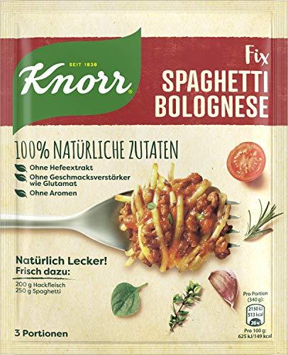 Knorr Natürlich Lecker Spaghetti Bolognese Fix 3 Portionen,  21er Pack (21 x 41 g)