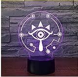 The Legend of Zelda 3D-Illusionslampe, 16 Farben, LED-Nachtlicht mit Touch-Steuerung, Geschenk für Kinder