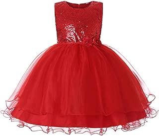 JiaDuo 女童蕾丝网布芭蕾舞短裙亮片蝴蝶结学步公主礼服