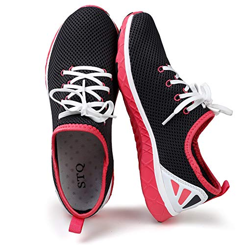 STQ Womens Lace-Up Water Shoes