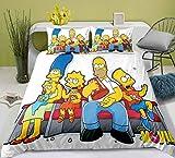Bettwäsche 155x 220 The Simpsons Bettwäsche-Sets