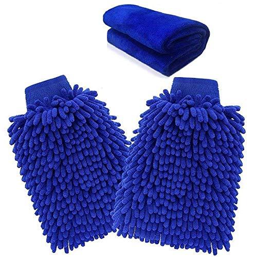N/A Microfiber handschoenen Microfiber handschoenen Car wash handschoenen Polijstdoek Microfiber handschoenen