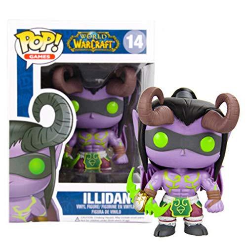 ZXWDIAAE Vinyl Bobble-Head POP-Spiel: World of Warcraft-Illidan Lich Arthas Sylvanas Auto-Dekoration ( Color : A )