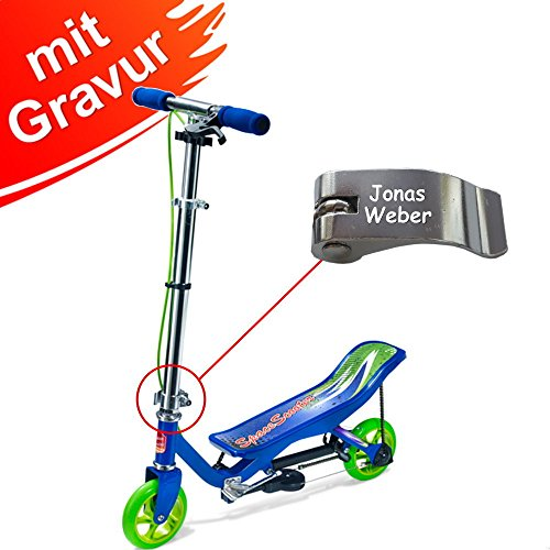 Unbekannt Space Scooter Junior X360 - Blue MIT Gravur (z.B. Name)