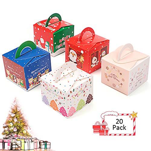ギフトボックス クリスマス お菓子 ラッピング 20個セット ギフトラッピング クリスマス プチギフト お菓子 個包装 クリスマス チョコレート クッキー キャンディーボックス