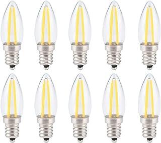 【𝐁𝐥𝐚𝐜𝐤 𝐅𝐫𝐢𝐝𝐚𝒚 𝐃𝐞𝐚𝐥𝐬】10st energiebesparende led kandelaar lamp, E12 gloeilamp, glas materiaal lange gloeidr...