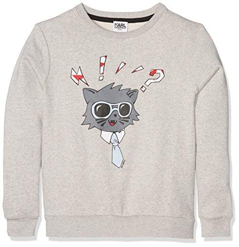 Karl Lagerfeld Jungen Sweatshirt Z25083 Grau (Grey Heather A34) 10 Jahre
