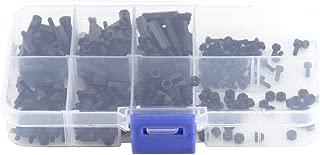 250Pcs M2 Hex Column Nylon Standoff Spacer Pillars Screws Nuts Assortment Kit with Storage Box (M2 Male to Female)