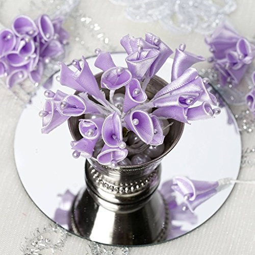 BalsaCircle 144 Lavender Beaded Calla Craft Lilies - Mini Flowers for DIY Wedding Birthday Party Favors Decorations Supplies Bulk