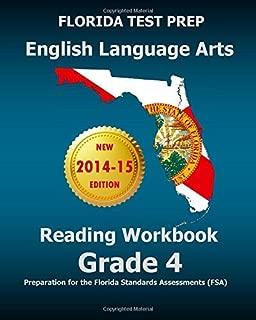 FLORIDA TEST PREP English Language Arts Reading Workbook Grade 4: Preparation for the Florida Standards Assessments (FSA) by Test Master Press Florida (2014-08-29) Paperback