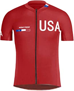 Uglyfrog Sportern Exclusive Plaid Shirt Short Sleeve Cycling Jersey Cycling Clothing Bike Wear