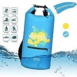 WOTEK Dry Bag, 20L wasserdichte Tasche Wasserdichter Packsack mit Reißverschluss,2 Lange...