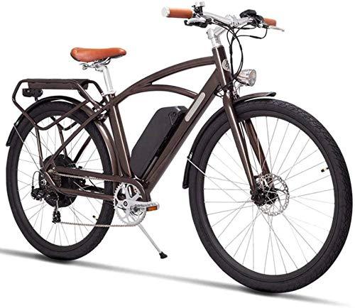 Bici da 26 pollici per adulti City Bike Electric Bike Design retrò con pedale Ebike Ebike 400W48V auto elettrica al litio adatta per anziani/signore/uomini, 28in, 28in