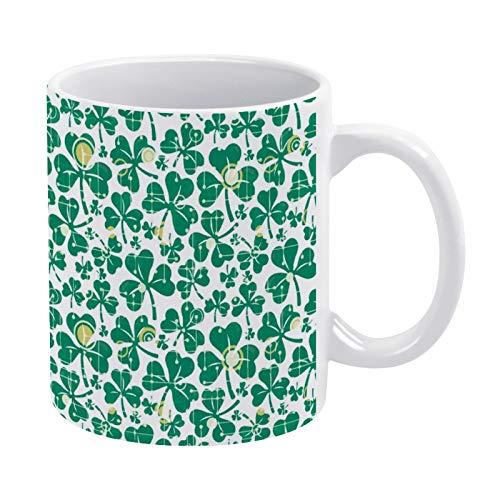 Taza de café de cerámica para regalo del día de San Patricio, divertida taza de café de 325 ml