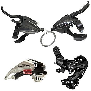 YAD Shimano 7 Speed Groupset ST-EF500 3x7 Speed Shifters Set + FD-TY500 Front Derailleur + RD-TY300 Rear Derailleur Direct Mount