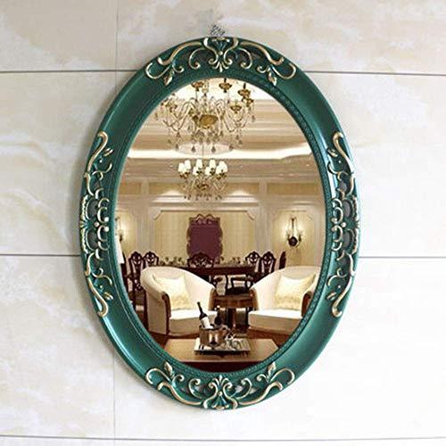 Specchio Specchio Decorativo in Stile Americano Specchio per Il Trucco a Parete Ovale Specchio Bagno da Bagno in Stile Europeo