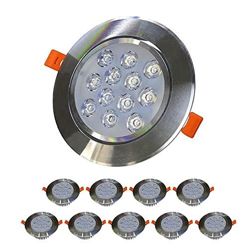 LED LUCHA LUCHA LUZ Empotrada de 3 pulgadas Downlight No dimmable Tamaño de 90-100 mm Spotlight Light Sombreros Altos Iluminación para la cocina Balcón de baño [Clase de energía A +]