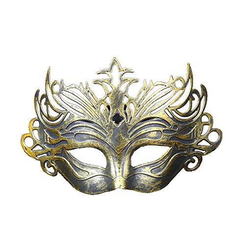 CAOLATOR.Máscara de Retro Mujeres Corona Mascarilla Elegante Ojo de Gato Antifaz para Mascarada Veneciano Carnaval Halloween Fiesta de Baile Disfraces Juguetes