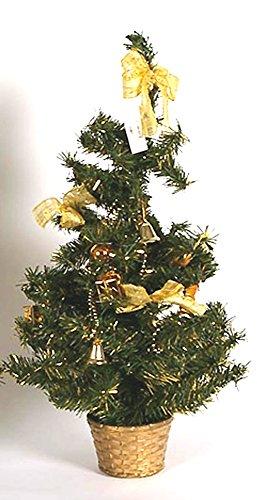 Idea Natale: albero alberello natalizio cm 20 addobbato (oro)
