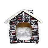 Iwinna Casa de mascotas, cama extraíble lavable para perro, caseta impermeable para exteriores, caseta gruesa para gatos y gatos