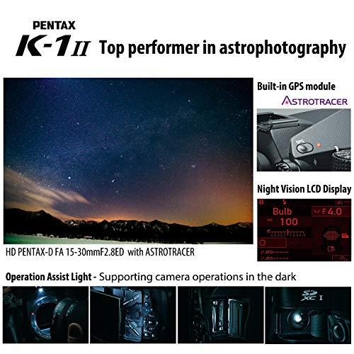 Pentax K-1 Mark II Appareil Photo Reflex Numérique: 36, 4 Mégapixels Appareil Photo Numérique Plein Format Haute Résolution Stabilisateur SR II 5 Axes, Dain de 5 Vitesses Résistant Aux Intempéries