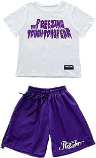 上下2点セット 半袖 ショートパンツ キッズ  ダンス衣装 ダンスウェア 子供用 男の子 女の子