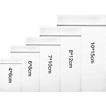 Bolsas de pl/ástico trasparente con cierre resellable 1 paquete de 100 unidades 25x35cm de polietileno