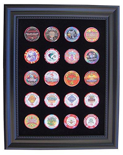 Tiny Treasures, LLC. - Poker Chips in Schwarz, Größe 12h x 15h