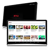 6. 12.5 inch Android 9.0 Headrest Monitors with WiFi, Sync Screens TV Tablets Touch Screen 4K Dual Video Players Phone Mirror Netflix YouTube HDMI AV Bluetooth FM